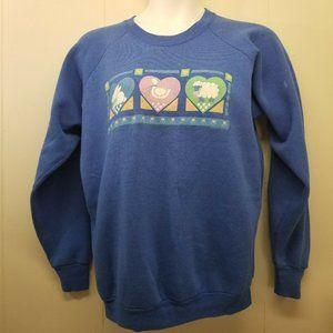 Fruit Loom XL Blue Sweatshirt Rabbit Goose Country